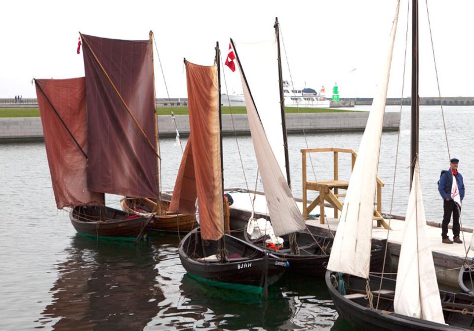 Ikke minder end 6 jollier fra Espergærde og Snekkersten deltog i åbningen af det nye Søfartsmuseum.
